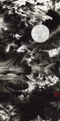 Sun & Moon 2008 Ink of paper 144cm×75cm