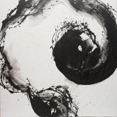 Sun & Moon(Moon)2010 mix media 128cm×128cm