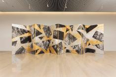 Wan Xiang 2015 Folded screen 194cm×800cm