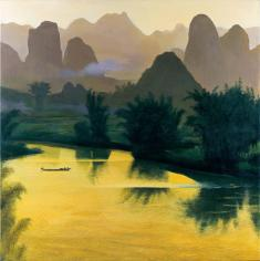 Guilin Mountain and Water 1997 127cm×127cm