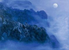 Mount Lu, Moon light 1997 96cm×132cm